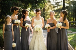 darkgraydresswhitebouquet